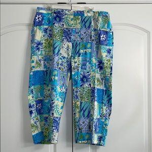 TY Original Wear Tropical Pattern Capri Pants